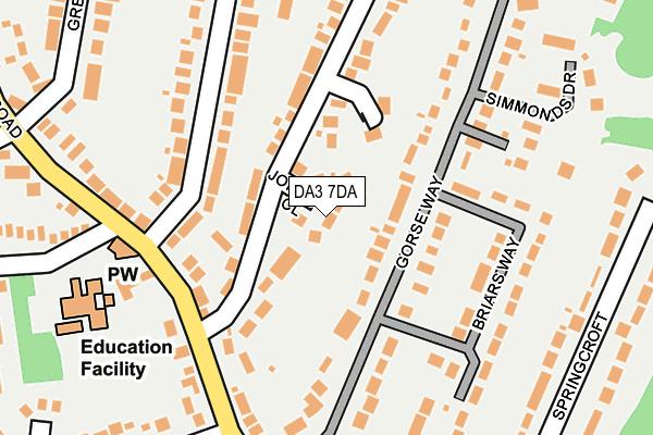 DA3 7DA map - OS OpenMap – Local (Ordnance Survey)