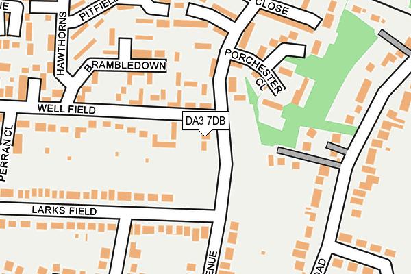 DA3 7DB map - OS OpenMap – Local (Ordnance Survey)
