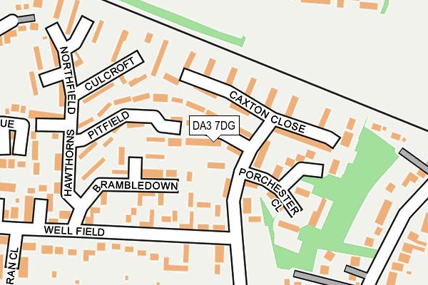 DA3 7DG map - OS OpenMap – Local (Ordnance Survey)