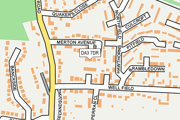 DA3 7DR map - OS OpenMap – Local (Ordnance Survey)