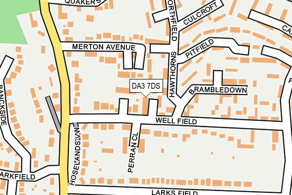 DA3 7DS map - OS OpenMap – Local (Ordnance Survey)