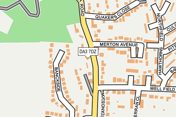 DA3 7DZ map - OS OpenMap – Local (Ordnance Survey)