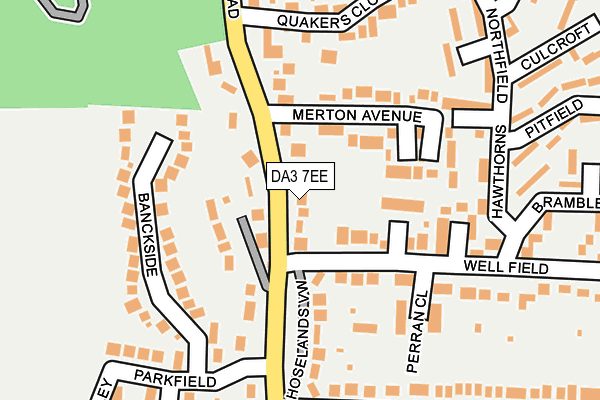 DA3 7EE map - OS OpenMap – Local (Ordnance Survey)