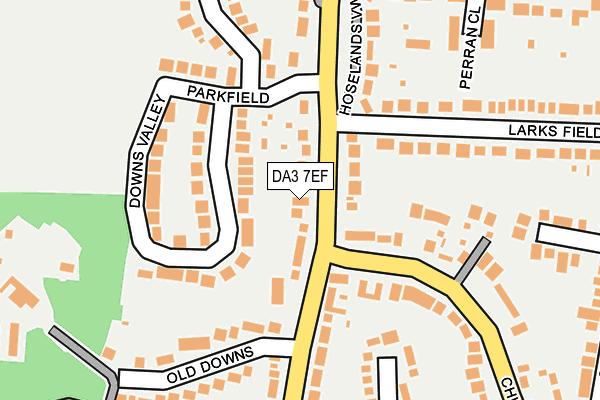 DA3 7EF map - OS OpenMap – Local (Ordnance Survey)