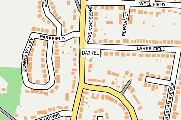 DA3 7EL map - OS OpenMap – Local (Ordnance Survey)
