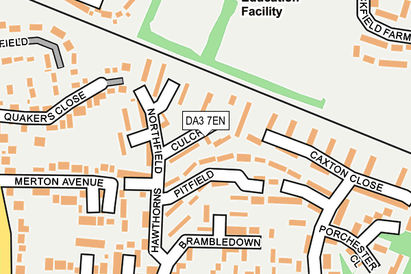 DA3 7EN map - OS OpenMap – Local (Ordnance Survey)