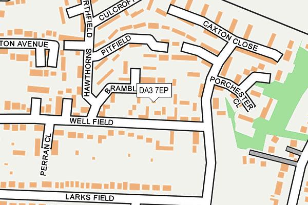 DA3 7EP map - OS OpenMap – Local (Ordnance Survey)