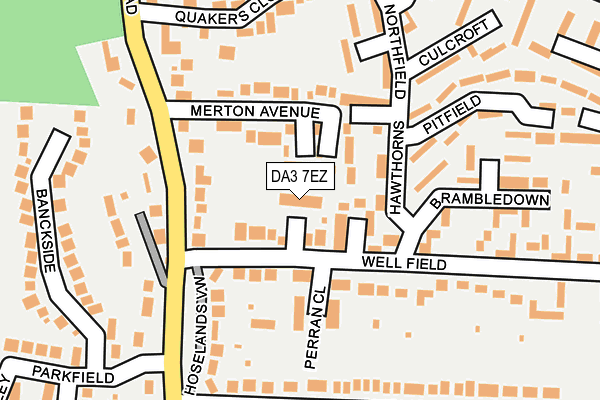 DA3 7EZ map - OS OpenMap – Local (Ordnance Survey)
