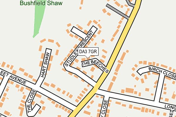 DA3 7GR map - OS OpenMap – Local (Ordnance Survey)