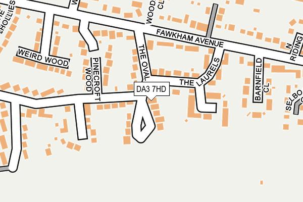 DA3 7HD map - OS OpenMap – Local (Ordnance Survey)