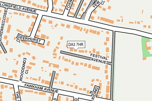 DA3 7HR map - OS OpenMap – Local (Ordnance Survey)