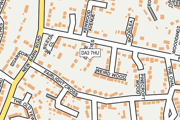 DA3 7HU map - OS OpenMap – Local (Ordnance Survey)