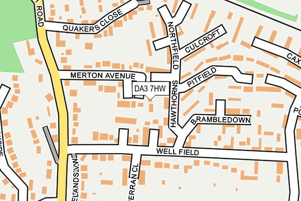 DA3 7HW map - OS OpenMap – Local (Ordnance Survey)