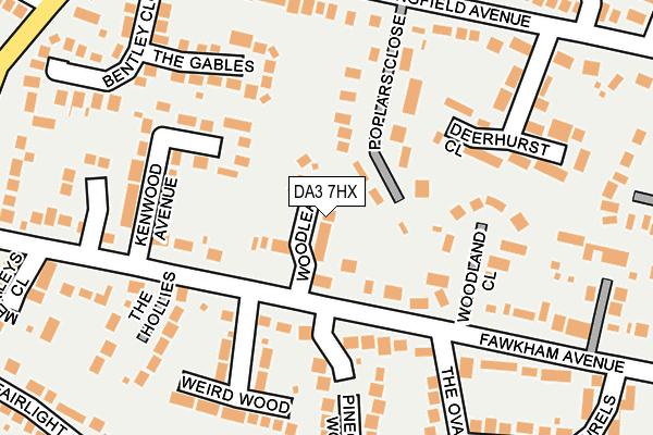 DA3 7HX map - OS OpenMap – Local (Ordnance Survey)
