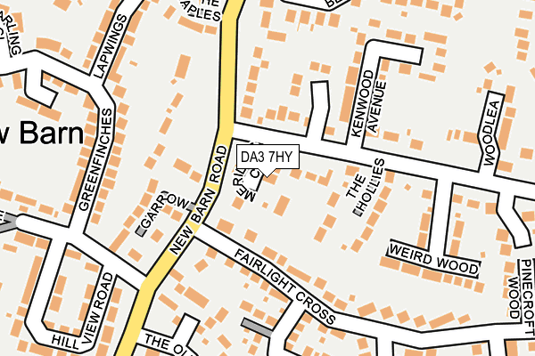 DA3 7HY map - OS OpenMap – Local (Ordnance Survey)