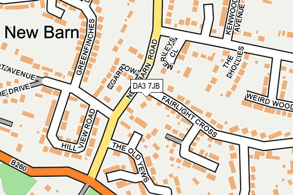 DA3 7JB map - OS OpenMap – Local (Ordnance Survey)