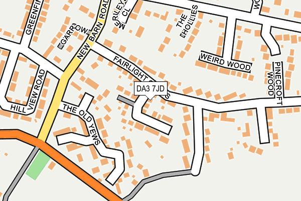 DA3 7JD map - OS OpenMap – Local (Ordnance Survey)