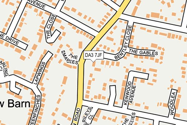 DA3 7JF map - OS OpenMap – Local (Ordnance Survey)