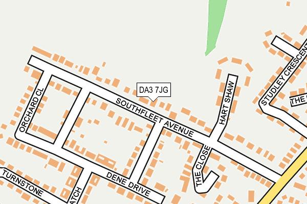 DA3 7JG map - OS OpenMap – Local (Ordnance Survey)