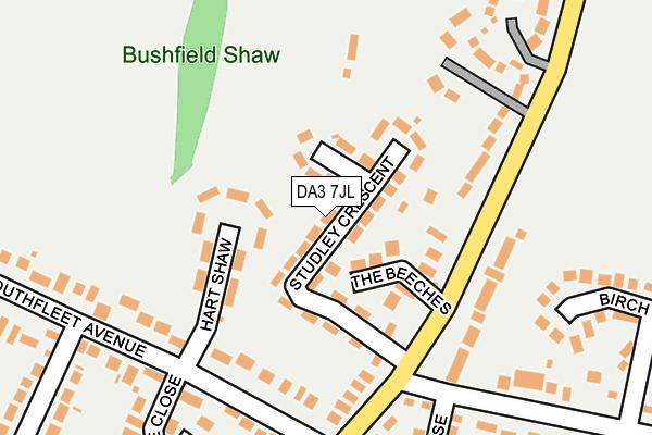 DA3 7JL map - OS OpenMap – Local (Ordnance Survey)