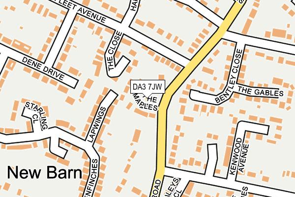 DA3 7JW map - OS OpenMap – Local (Ordnance Survey)