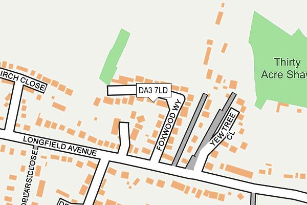 DA3 7LD map - OS OpenMap – Local (Ordnance Survey)