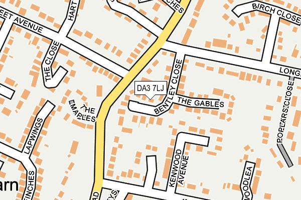 DA3 7LJ map - OS OpenMap – Local (Ordnance Survey)
