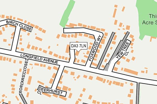 DA3 7LN map - OS OpenMap – Local (Ordnance Survey)