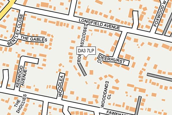 DA3 7LP map - OS OpenMap – Local (Ordnance Survey)
