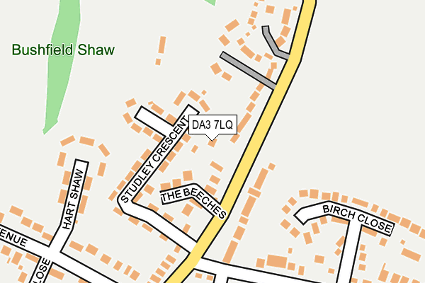 DA3 7LQ map - OS OpenMap – Local (Ordnance Survey)