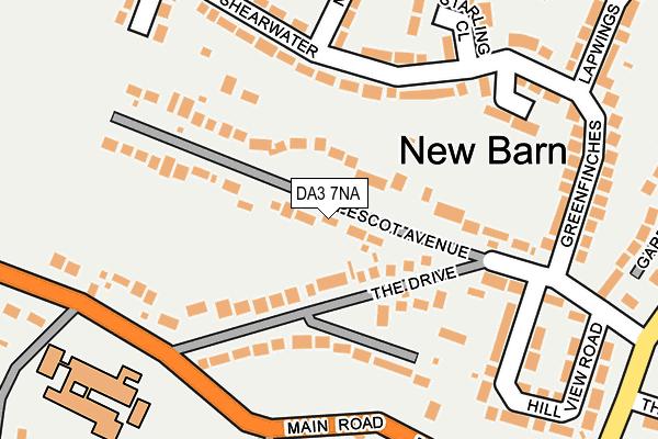 DA3 7NA map - OS OpenMap – Local (Ordnance Survey)