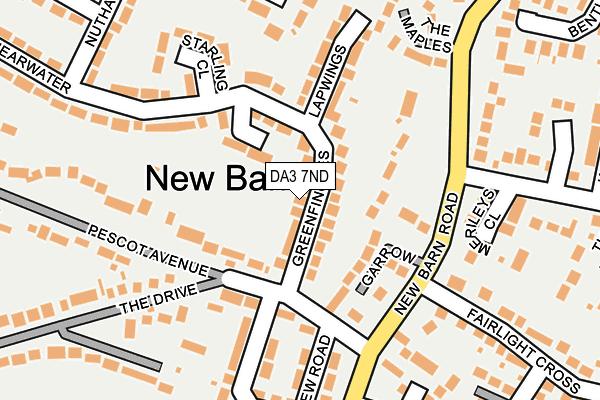 DA3 7ND map - OS OpenMap – Local (Ordnance Survey)