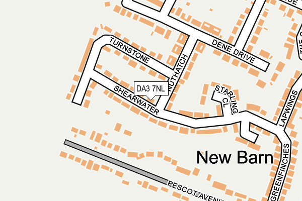 DA3 7NL map - OS OpenMap – Local (Ordnance Survey)