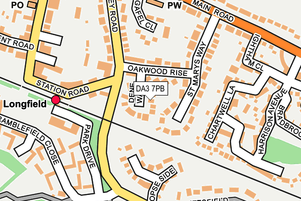 DA3 7PB map - OS OpenMap – Local (Ordnance Survey)