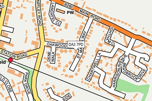 DA3 7PD map - OS OpenMap – Local (Ordnance Survey)