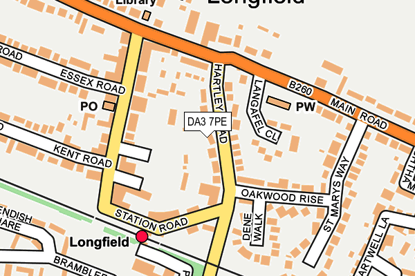 DA3 7PE map - OS OpenMap – Local (Ordnance Survey)