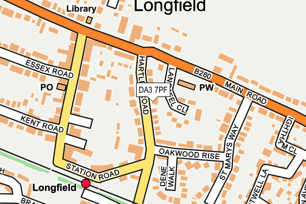 DA3 7PF map - OS OpenMap – Local (Ordnance Survey)