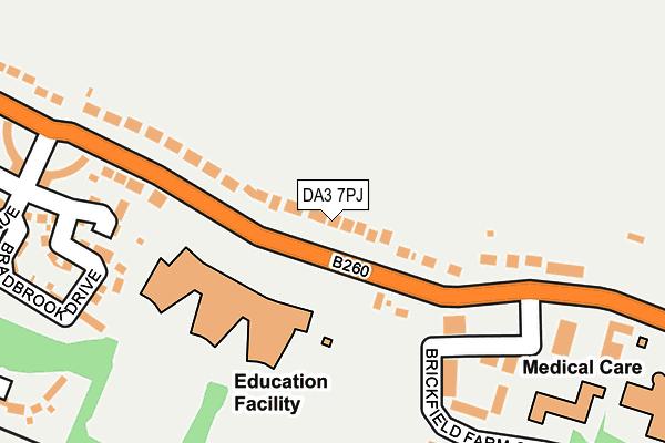 DA3 7PJ map - OS OpenMap – Local (Ordnance Survey)