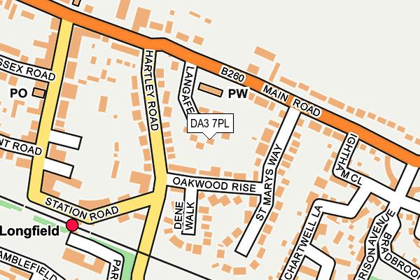 DA3 7PL map - OS OpenMap – Local (Ordnance Survey)