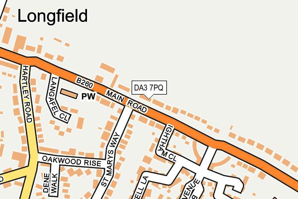 DA3 7PQ map - OS OpenMap – Local (Ordnance Survey)
