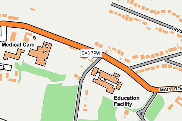 DA3 7PW map - OS OpenMap – Local (Ordnance Survey)