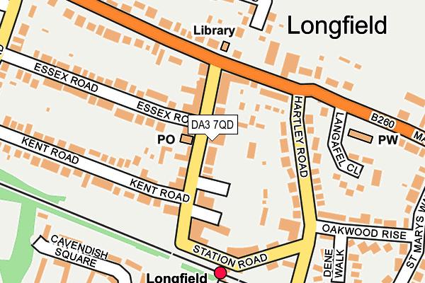 DA3 7QD map - OS OpenMap – Local (Ordnance Survey)