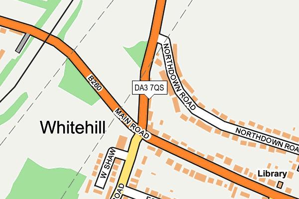 DA3 7QS map - OS OpenMap – Local (Ordnance Survey)