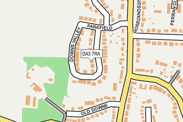 DA3 7RA map - OS OpenMap – Local (Ordnance Survey)