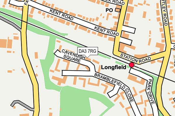 DA3 7RG map - OS OpenMap – Local (Ordnance Survey)