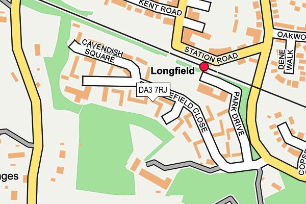 DA3 7RJ map - OS OpenMap – Local (Ordnance Survey)