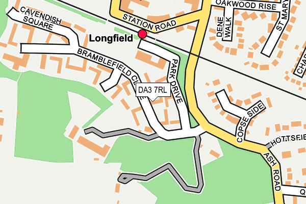 DA3 7RL map - OS OpenMap – Local (Ordnance Survey)