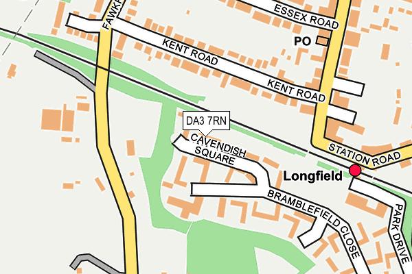 DA3 7RN map - OS OpenMap – Local (Ordnance Survey)