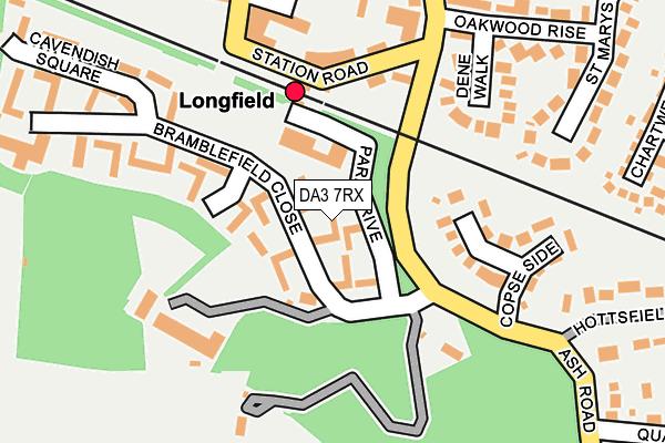 DA3 7RX map - OS OpenMap – Local (Ordnance Survey)