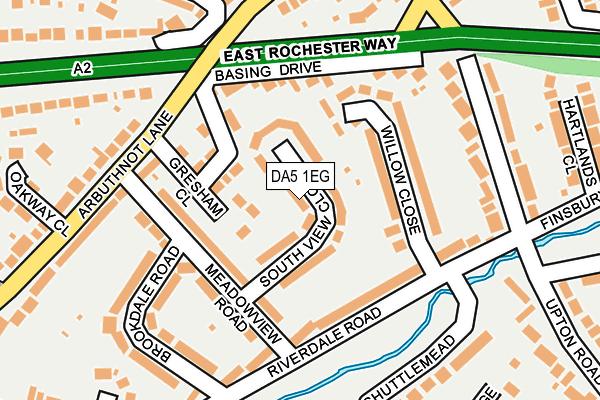 DA5 1EG map - OS OpenMap – Local (Ordnance Survey)